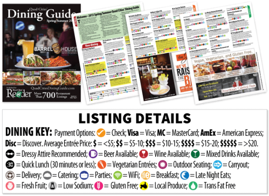 What's inside the Quad Cities Dining Guide?
