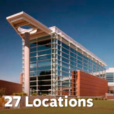27 Reader pickup locations at medical and office buildings.