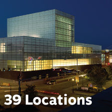 39 Reader pickup locations at civic and performance venues.