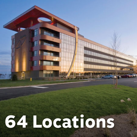 64 Reader pickup locations at hotels and visitors centers.